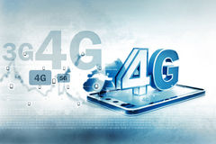 Digital 4g tablet pc. Digital illustration of 4g tablet pc royalty free illustration