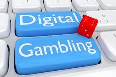 Digital Gambling concept Royalty Free Stock Image