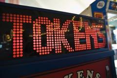 Digital Game Machine At Amusement Park Royalty Free Stock Photos
