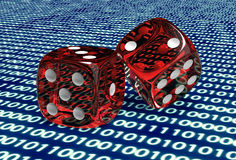 Free Digital Gaming Concept Dice In Computer Environment Royalty Free Stock Images - 71969929