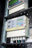 Digital gas flow meter, mounted in rack Stock Images