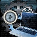 Digital gears vector illustration