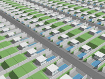 Digital generic housing lots Stock Photo