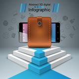 Digital-Gerät, Smartphone - Geschäft infographic lizenzfreie abbildung