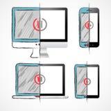 Digital-Geräte eingestellt lizenzfreie abbildung