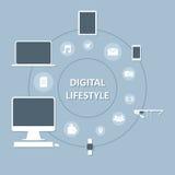 Digital-Geräte in unserem Leben Stockfoto