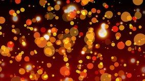 Digital gerou a animação da bolha clara contra a bolha vermelha efervescente ilustração stock