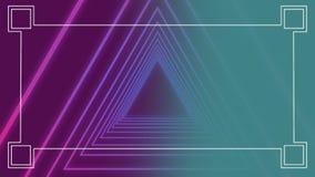 Digital gerou a animação de triangular de néon ilustração stock