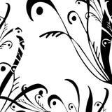 Digital-Gestaltungsarbeit. Blumenauslegung. stock abbildung