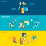 Digital-Gesundheitsfahne lizenzfreie abbildung