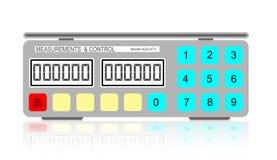 Digital-Gewichtskala Stockbild