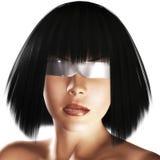 Digital Girls Face Stock Photography