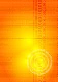 Digital-Glühenorange Lizenzfreies Stockfoto