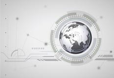 Digital global bakgrund för abstrakt hitech Royaltyfri Fotografi