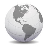 Digital globe. Computer generated digital world globe Royalty Free Stock Photo