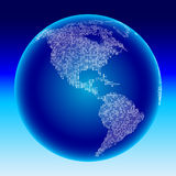 Digital globe. Americas Stock Photo