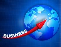 Digital  globe with arrow Royalty Free Stock Image