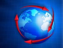 Digital  globe with arrows Royalty Free Stock Photos