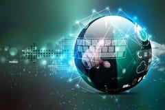 Digital globe Stock Image