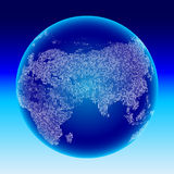Digital globe. Europe, Asia. Royalty Free Stock Photo