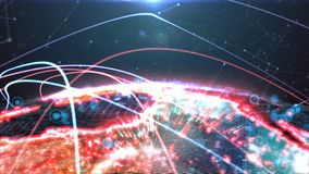 Digital globe hologram royalty free illustration