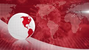 Digital globe rotating with virus information processing
