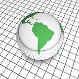 Digital globe south america Royalty Free Stock Photography