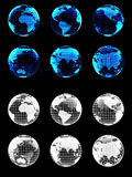 Digital Globes for Media. With Alpha Channels Stock Photo