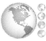 Digital globes Royalty Free Stock Image