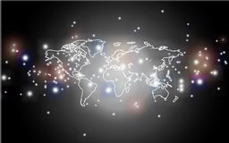 Digital glowing world map on background Royalty Free Stock Photography