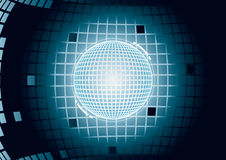 Digital glowing sphere Royalty Free Stock Image