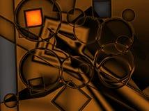 Digital Gold. A digital image made in photoshop vector illustration