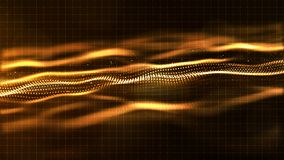 Digital gold color wave abstract background Royalty Free Stock Image