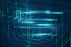 Digital golden ratio on abstract technology background Royalty Free Stock Image