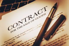 Digital Goods Sale Contract Stock Images