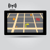 Digital gps navigation icon Royalty Free Stock Photos