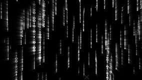 Digital-grüne Schlüsselmünzen, die in Matrix fallen Nahtloses Konzept mit Alphalech vektor abbildung