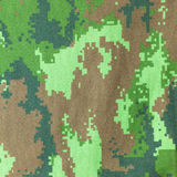 Digital graphic military camouflage fabric background texture Stock Photo