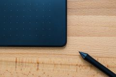 Digital graphic tablet and pen Stock Photos
