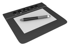 Digital Graphic Tablet with Pen Stock Image