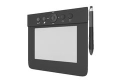 Digital Graphic Tablet with Pen Stock Photos