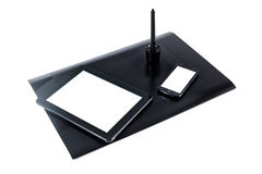 Digital graphic tablet. With phone and i-pad mock-up Royalty Free Stock Image