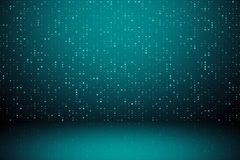 Digital green background. With sparkle mesh circuit. 3D Rendering stock illustration