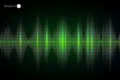 Digital green Equalizer. Vector illustration. Royalty Free Stock Photos