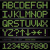 Digital Green Font Royalty Free Stock Photography