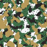 Digital green seamless camo. Pattern Royalty Free Stock Photos