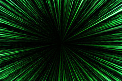 Digital green star burst matrix generated in black background, t. Echnology concept Stock Images