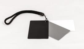 Digital Grey Balance Cards nero bianco Fotografie Stock
