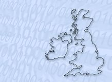 Digital Großbritannien Stockbild