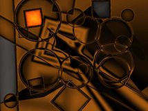 digital guld Arkivbild